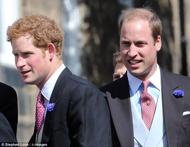 Friends: Prince William was without his heavily pregnant wife Kate, and arrived instead alongside his brother Prince Harry