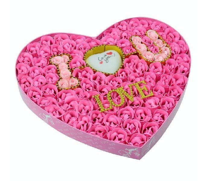 Heart Shape arrangement of pink roses.