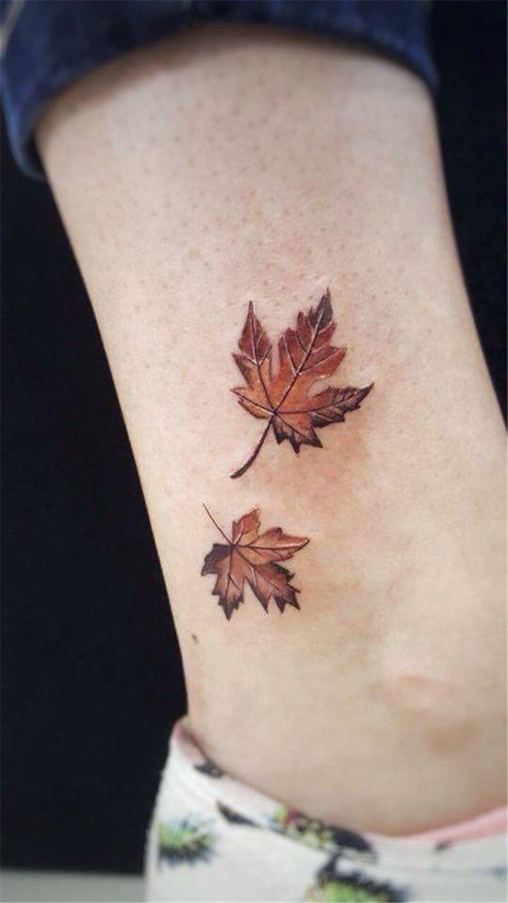 20+ Maple Leaf Tattoos Express What Truly Lies In Your Heart   – Tats