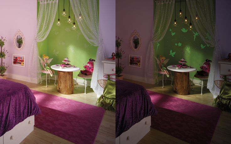 20 DIY ways to brighten up your kid's room with color, and why not some glow in the dark paint!!