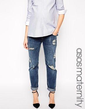 ASOS Maternity Brady Boyfriend Jeans with Under the Bump Waistband