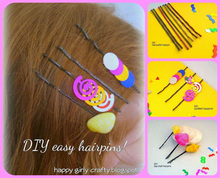 diy kids bobbypins / hairpins
