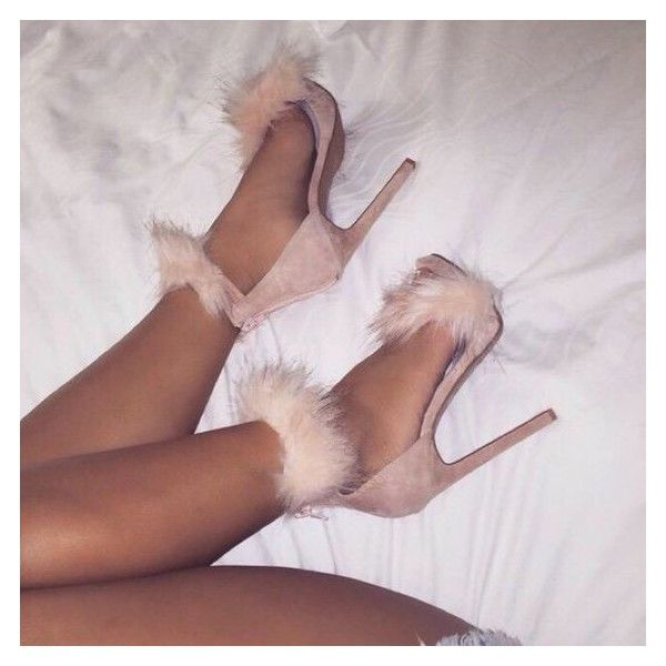 Shoes: nude heels fluffy sandals socks pink heels girly fluffy pink... ❤ liked on Polyvore featuring shoes, sandals, strappy high heel sandals, high heel shoes, strappy sandals, strap sandals and heeled sandals
