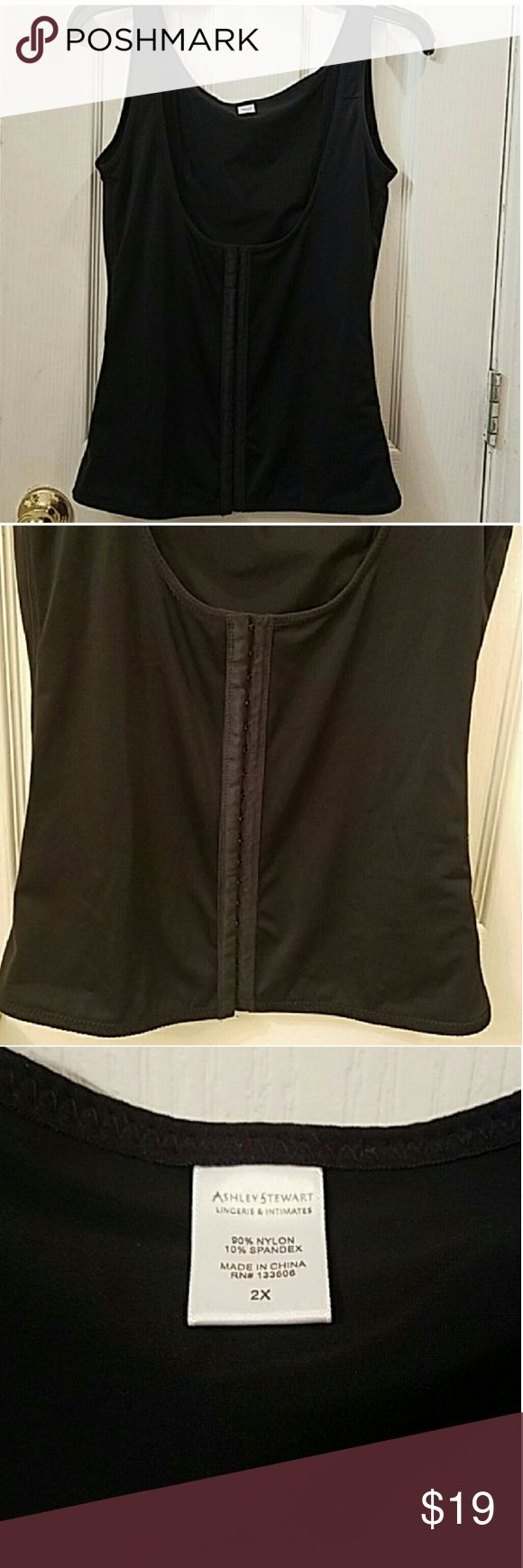 💓👀+Ashley Stewart Waist Trainer 🌹Final Price🌹Size 2x Fits a 18/20 in excellent condition I bought the wrong kind of waist trainer I was looking for something post operation. My lost you can have it for a $19 bucks plus shipping. Can be worn under a tops and dresses. without anyone noticing, people WILL notice how slim you look.👌 Has been washed and stored. Ashley Stewart Intimates & Sleepwear Shapewear