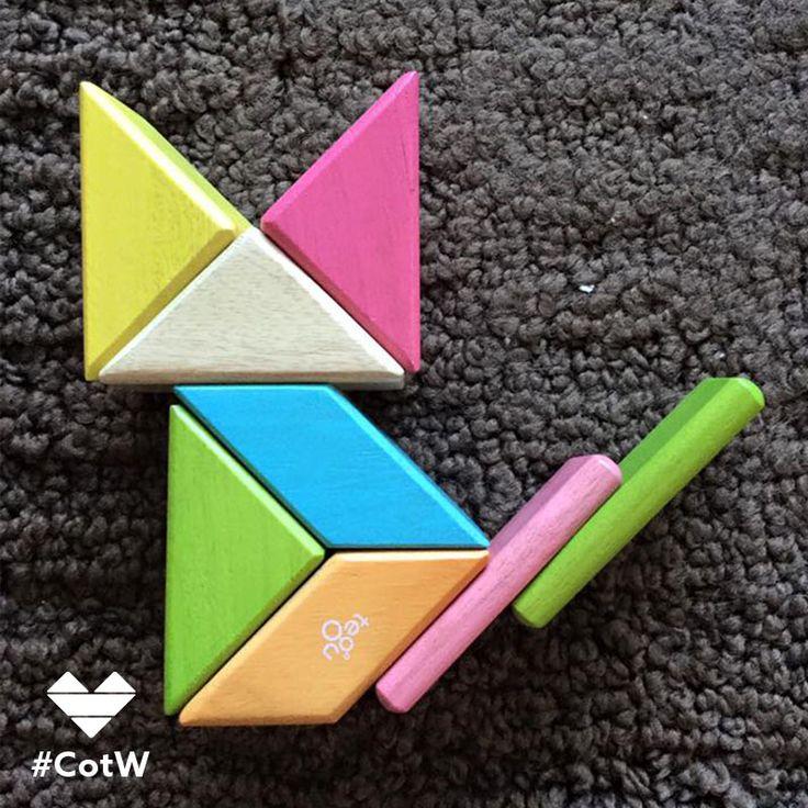 Kitty // Tegu Magnetic Wooden Blocks