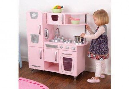 rózsaszín vintage konyha - kidkraft játékok www.pipikejatek.hu