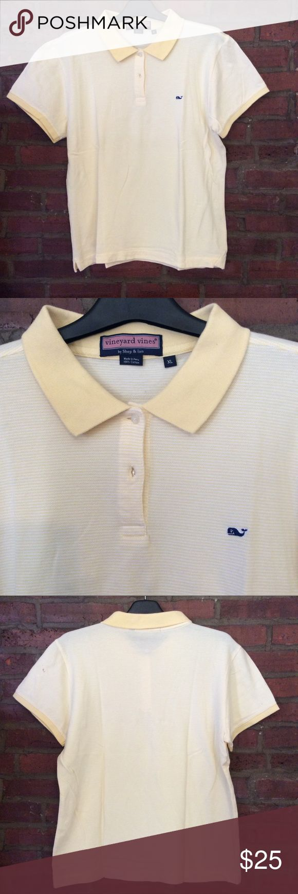 Men's Vineyard Vines Striped Polo Shirt Nice Vineyard Vines striped polo shirt. Vineyard Vines Shirts Polos