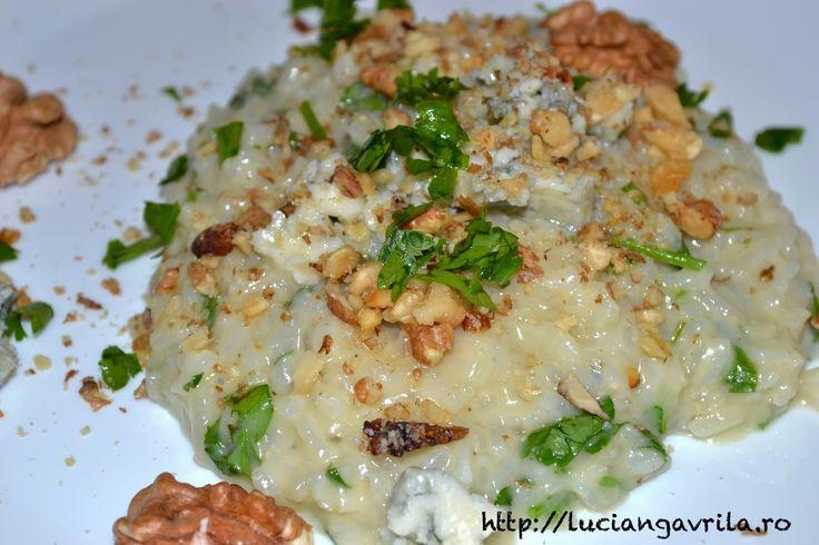 Risotto cu gorgonzola și nuci