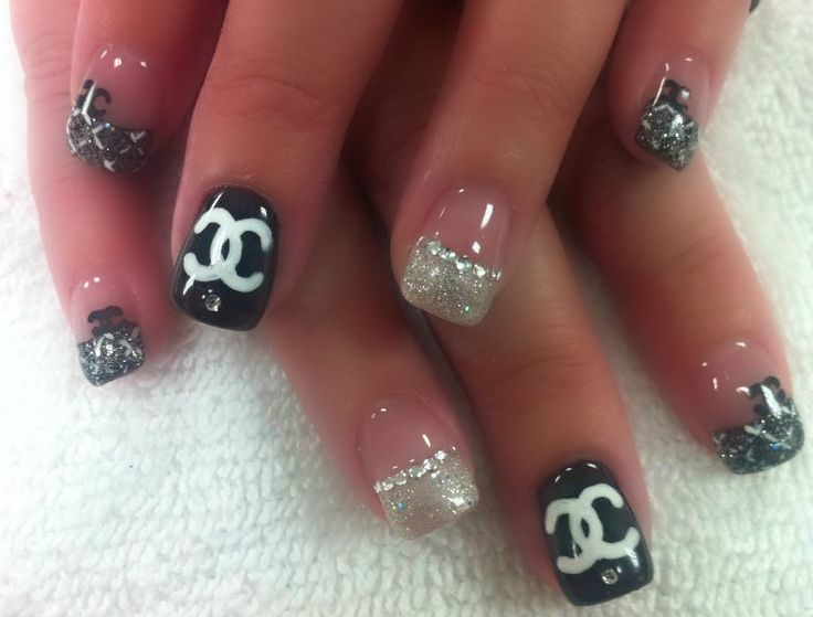 120 best nails images on pinterest make up elegant nails and coco chanel nail art prinsesfo Image collections