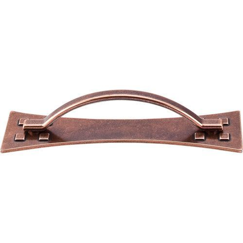 top knobs chateau ii inch center to center handle cabinet pull antique copper cabinet hardware pulls handle