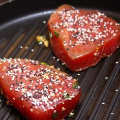 Menu Musings of a Modern American Mom: Seared Marinated Tuna Steaks
