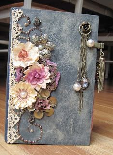 Altered book - I bought one similar to this at a craft fair - a vintage edition of Pollyanna.  I sat and read it (very carefully) and still enjoyed the story, which I appreciated even more because it was so beautifully decorated.