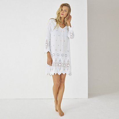 Broderie Beach Cover Up | The White Company
