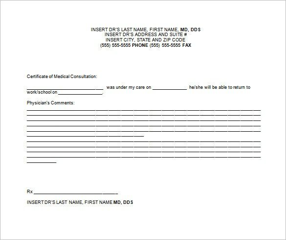 4 Doctors Note Templates Fake Notes Doctors Note Template