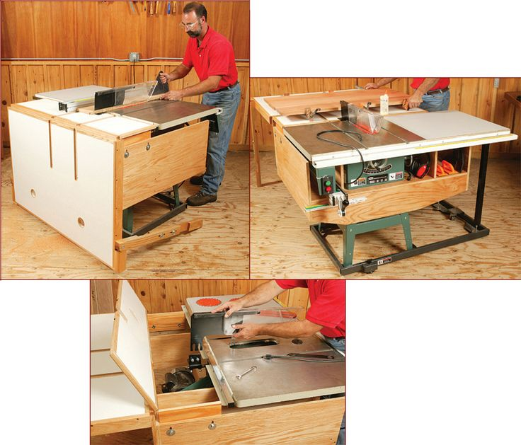 Folding Outfeed Table Saw Woodworking Ideas Pinterest