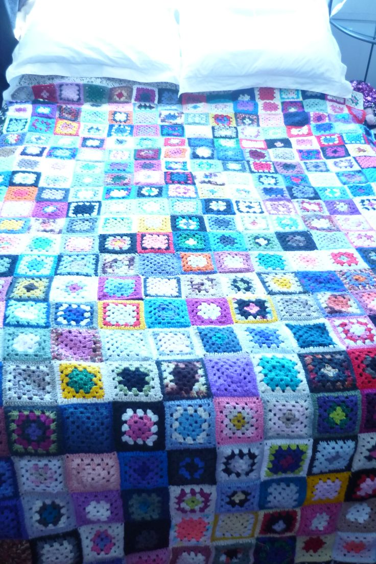 Marinah's Crochet Blanket Project 2014 - completed! All reclaimed yarn! By Barbi Faye