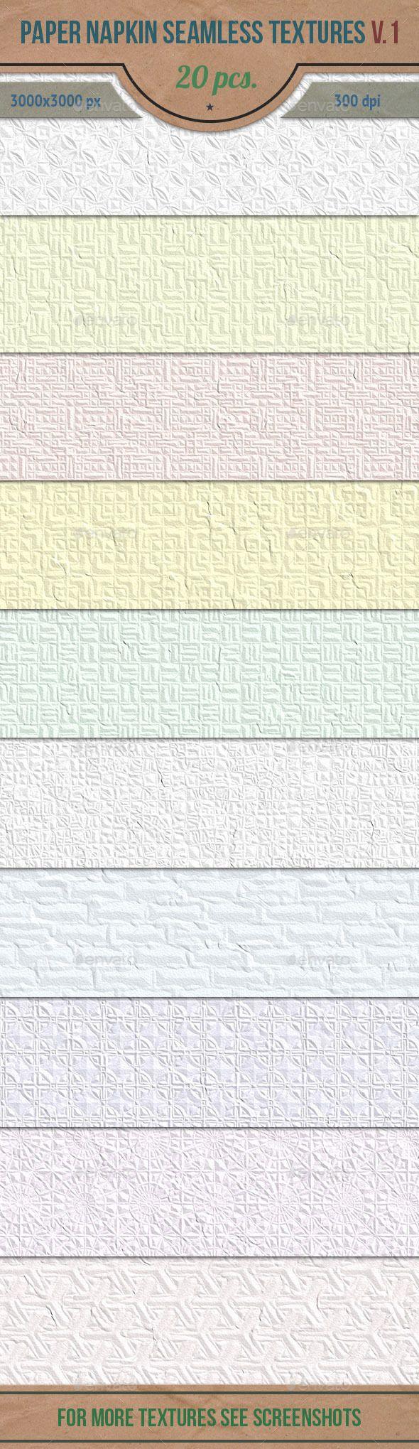 Paper Napkin Seamless HD Textures Set v.1