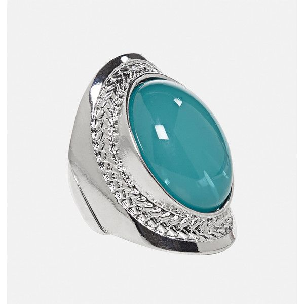 Avenue Blue Moon Oval Stretch Ring ($10) ❤ liked on Polyvore featuring jewelry, rings, plus size, teal, imitation jewellery, teal jewelry, artificial jewellery, teal ring and oval cut ring