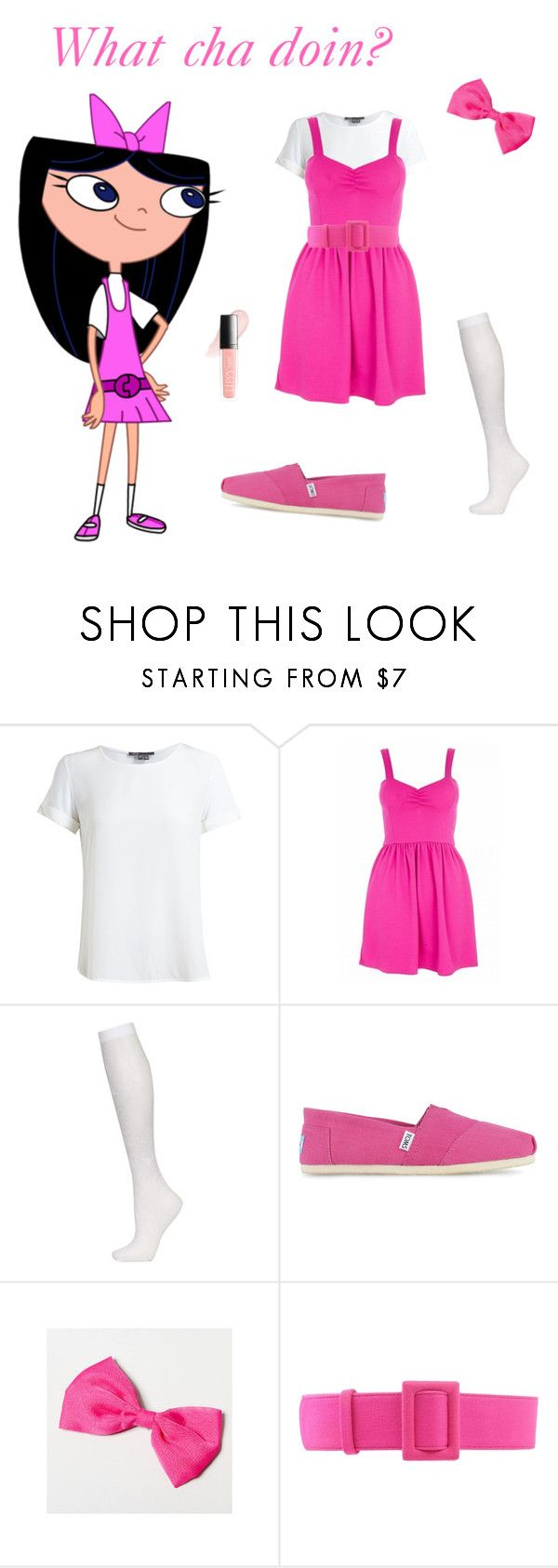 """Isabella-Phineas and Ferb"" by mnm0323 ❤ liked on Polyvore featuring Vince, Quiz, Topshop, TOMS, FAUSTO PUGLISI and Butter London"