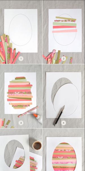Ganz einfache Osterkarten zum Basteln mit den Kindern. Noch mehr Ideen gibt es auf www.Spaaz.de