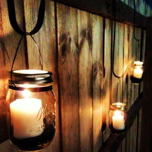 Mason jar candle lights #shopkick #summerparty