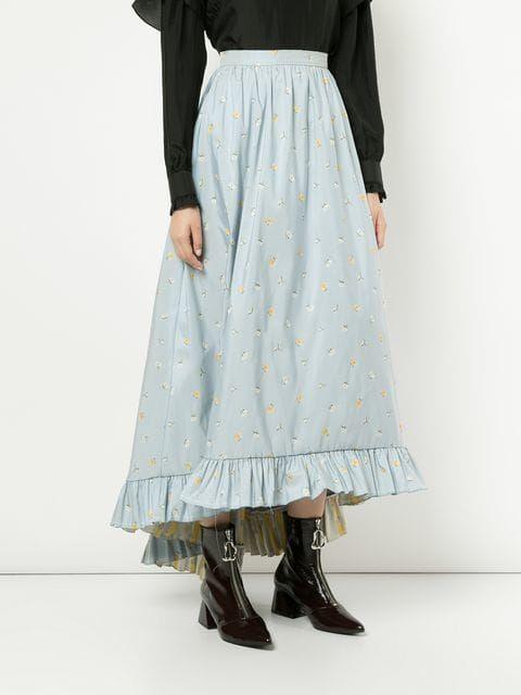 9657b9b37 Philosophy Di Lorenzo Serafini High-waisted Floral Skirt - Farfetch ...