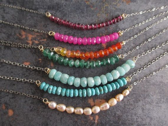 Hey, I found this really awesome Etsy listing at https://www.etsy.com/pt/listing/263239545/dainty-gemstone-necklace-barre-choose