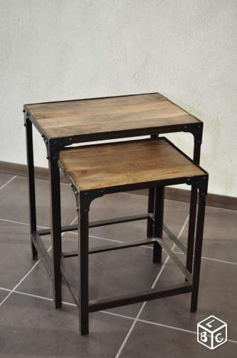 tables basses gigognes industrielles ameublement dr me meubles pinterest. Black Bedroom Furniture Sets. Home Design Ideas