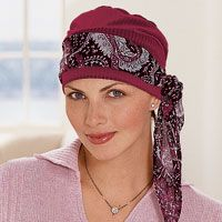 Cancer Turbans, Chemo Turbans, Turban Hats, Head Turbans, Cancer Head Wraps - TLC....GOT KIMBERLY THIS  ONE AND A BLACK ONE WITH A BLUE PAISLEY SCARF  ...