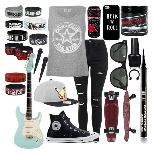 """6c6f04b89342e913a6d4fb30afb439e6 - """"Converse"""" by xxonyx-lightwaterxx ❤ liked on Polyvore featuring Topshop, Conve..."""