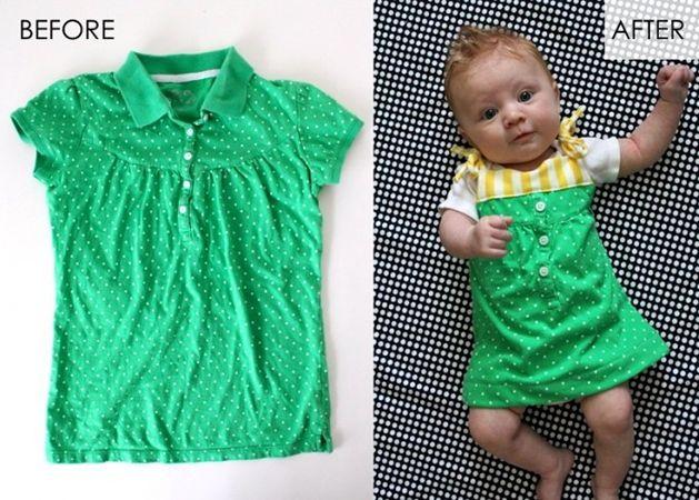 Huh-dorableDresses Tutorials, Maxis Dresses, Old Shirts, Diy Baby, Recycle Crafts, Baby Dresses, T Shirts, Maternity Shirts, Green Dresses