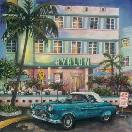 Avalon Hotel Miami Canvas Art - Melissa Sturgeon (24 x 24)