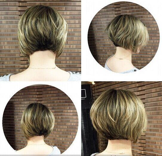 Classic Stacked Bob Haircut - Short Hair