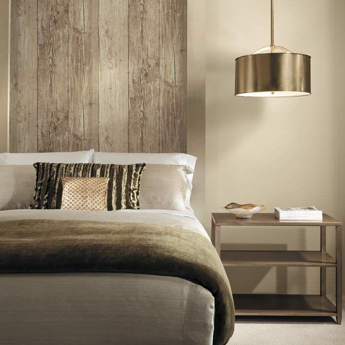 It's NOT wood!  It's wallpaper!  Get the look today!!