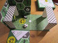 Anja`s Kartenstube: Anleitung zur Fußball-Explosionsbox