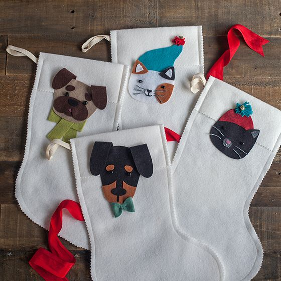 Wool Felt Stocking for Your Pets