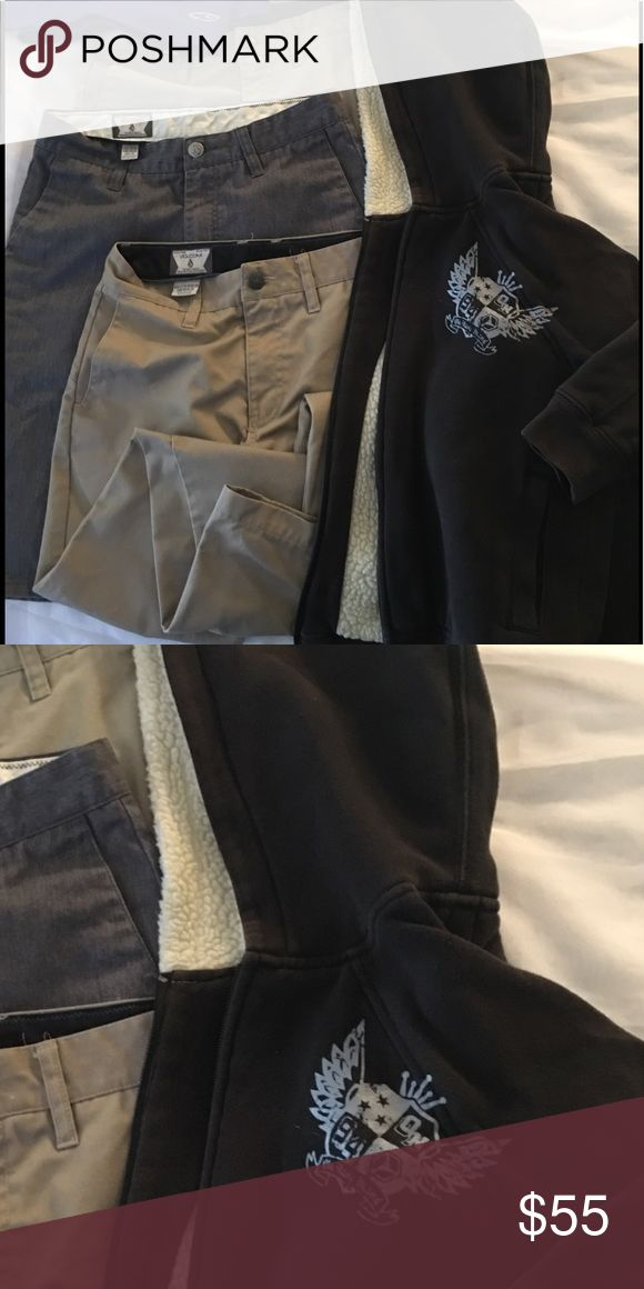 VOLCOM GUYS HOODIE, PANTS Size: M Pants, Shorts, Hoodie all VOLCOM size M Young Adult - Teen Volcom Matching Sets