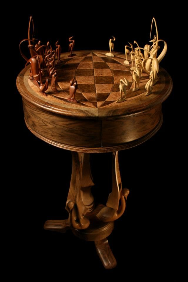 This is an amazing set. Not sure about the board but the pieces are phenomenal. One of the most impressive carved sets I have seen. #carved chess set