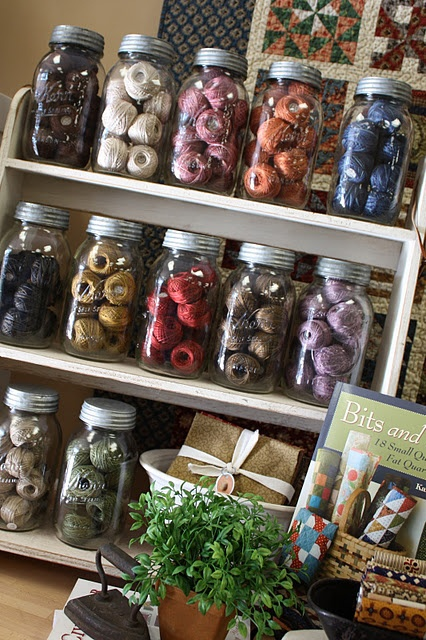 Great storage & showcase for all those balls of floss or pearl cottons!