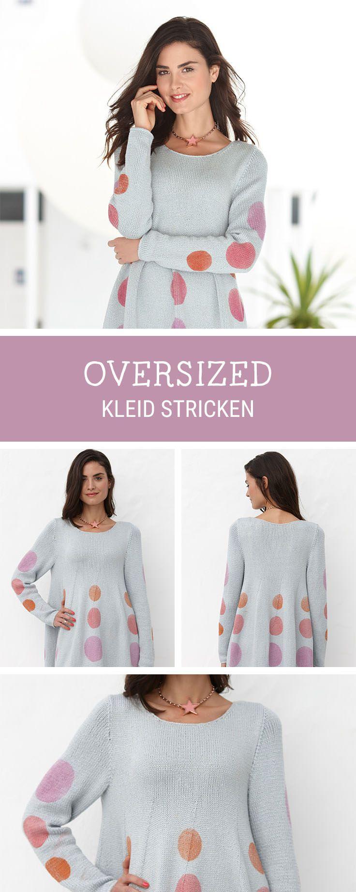 Strickanleitung für ein bequemes Kleid im Oversized-Look, Strickkleid / oversized knitted dress: diy knitting pattern via DaWanda.com
