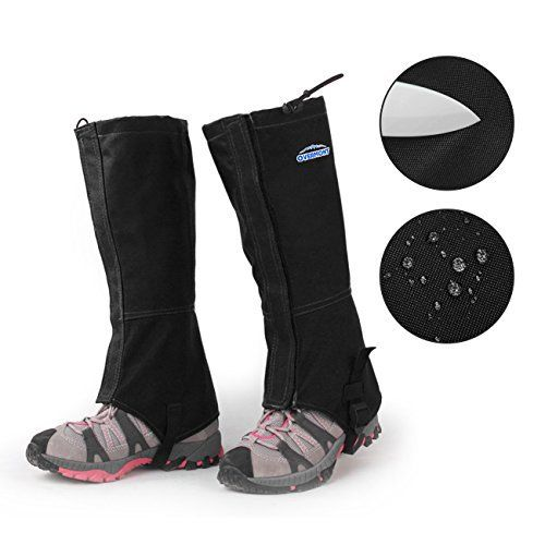 Overmont leggings gu¨ºtres des sports ext¨¦rieurs ski randonn¨¦ au temps pluvieux tissu respirant 600D Oxford imperm¨¦able pour les…