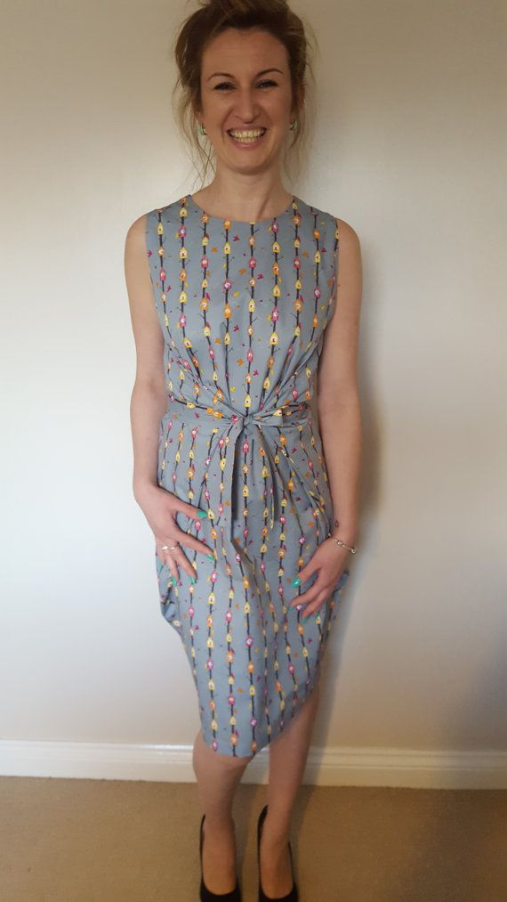 Birdhouse print wrap dress.