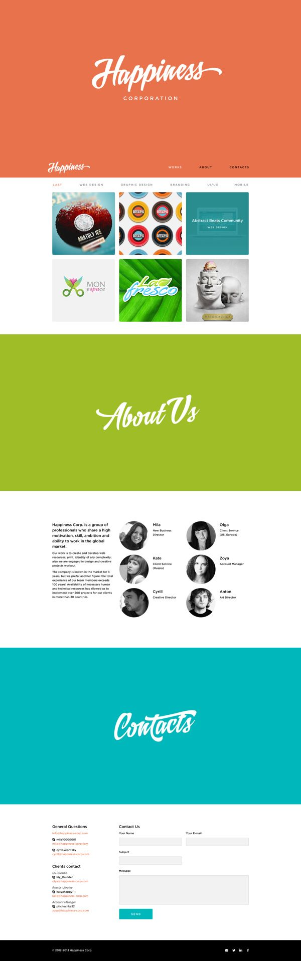 Happiness Corporation Website #web #website #webdesign #scroll #onepage #portfolio  ☆★ 포트폴리오 참고