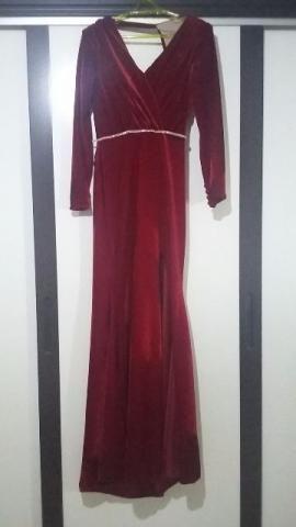 Vestido de festa - Luxo - Veludo - manga longa