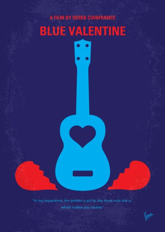 Blue Valentine (2010) ~ Minimal Movie Poster by Chungkong #amusementphile