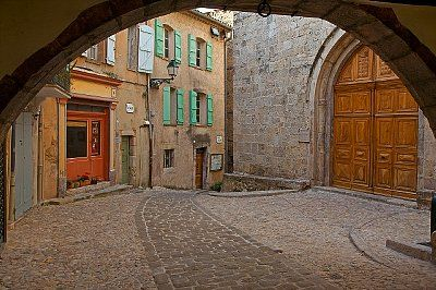 France, Seillans village, streets, 42-34053000, Fotochannels