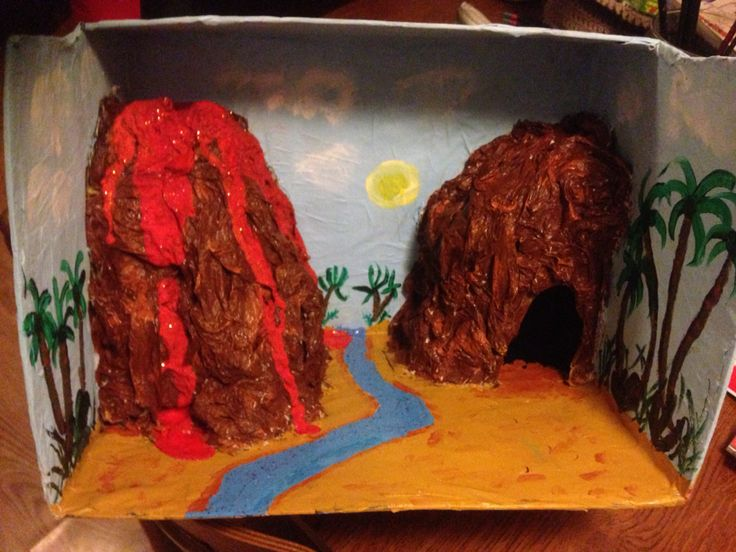 how to make a cave out of a shoebox