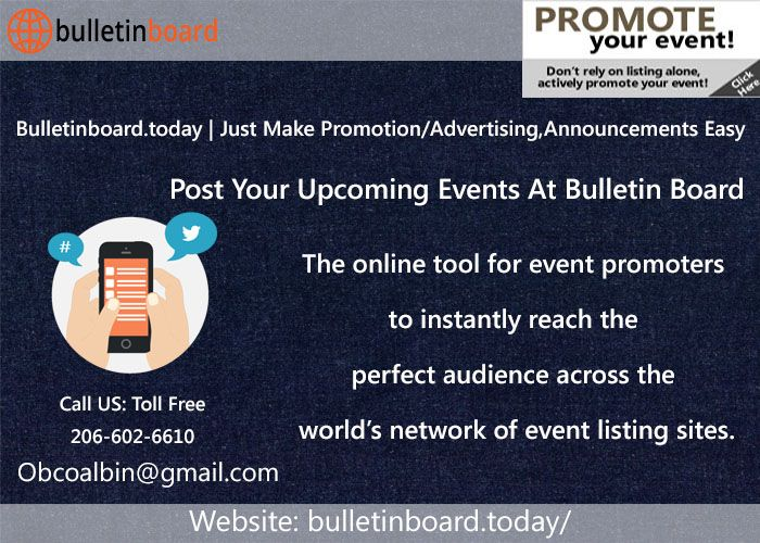 Bulletin Board is located in Seattle, Washington. It  is a Advertising industry. In this industry the comprises are established primarily engaged in creating advertising campaigns and placing such advertising in periodicals, newspapers and other media. These establishments are organized to provide a full range of services like production of advertising material, media planning, and placing advertising. So just be online and post your ads on Online Bulletin Board.