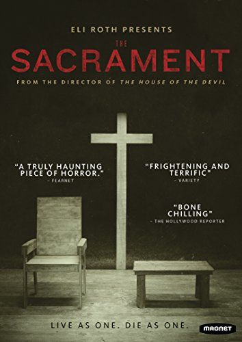 "The Sacrament- 	 Two reporters for VICE Media journey to a remote Central American compound hoping to reunite with the photographer's sister, who feels out of touch after struggling with a drug addiction. They find an isolated community of true believers devoted to a shadowy but charismatic figure called ""Father."" Skeptical at first, the journalists begin to come around to the group's utopian claims, until things rapidly take a very dark turn."