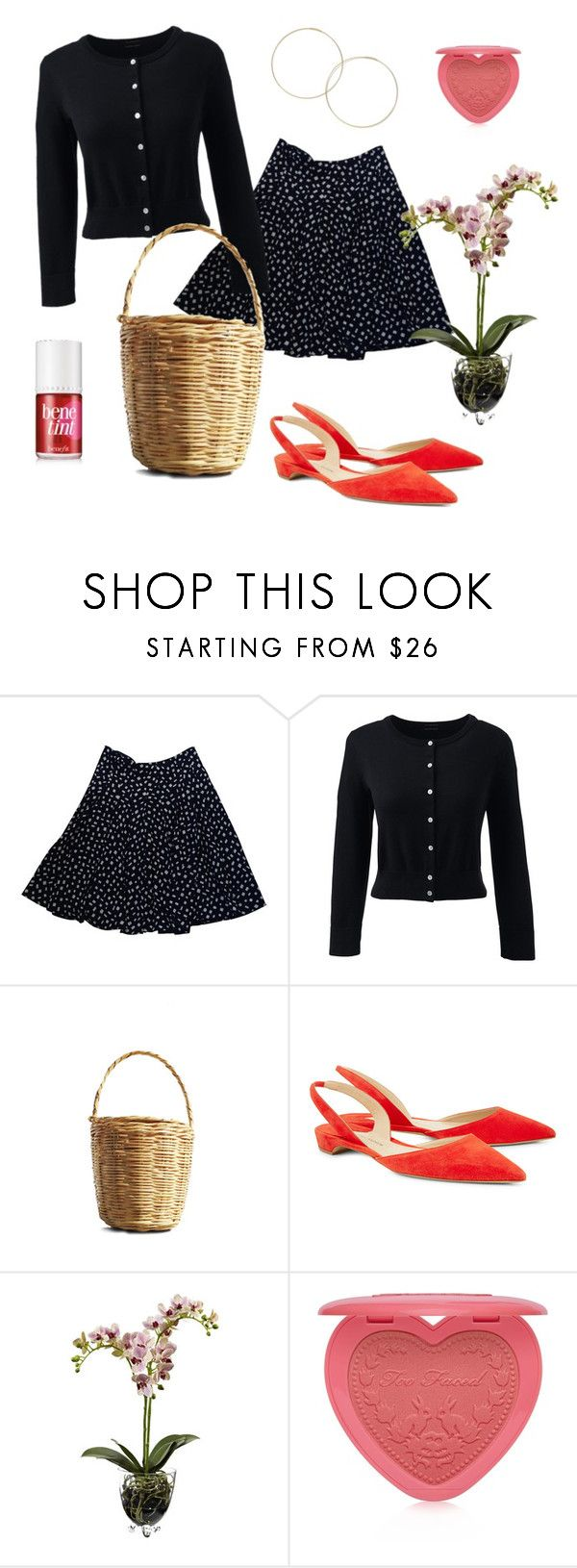 """""""jeanne damas"""" by dddddddi ❤ liked on Polyvore featuring Prada, Lands' End, Paul Andrew, Nearly Natural, Too Faced Cosmetics and plus size clothing"""